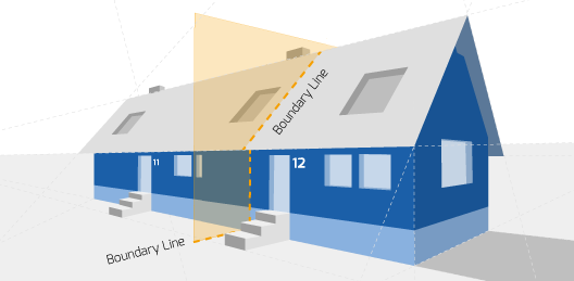 Right Surveyors Prestatyn Party Wall Diagram